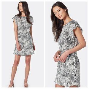 Joie Leopard Print Flutter Sleeve Anthea Dress